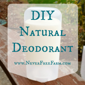 Natural Essential Oil Infused Deodorant